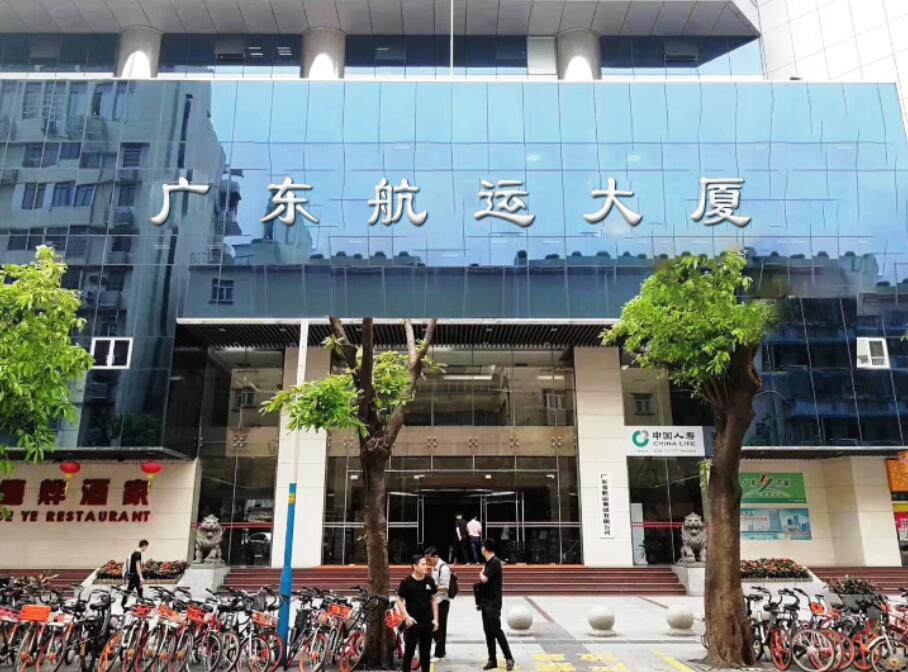 广东航运大厦使用德生人脸识别道闸系统