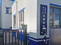 德生AI门岗人脸识别测温仪在北京公安局通州分局正式上岗